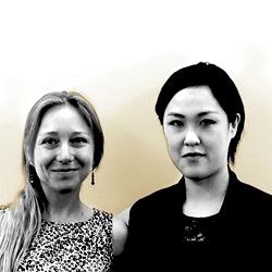 Leonie Roessler and Akane Takeda